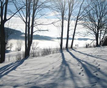 Krásný pohled na okolí Krkonoš