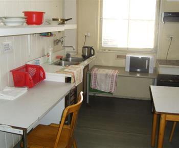 Společná kuchyňka v ubytovně