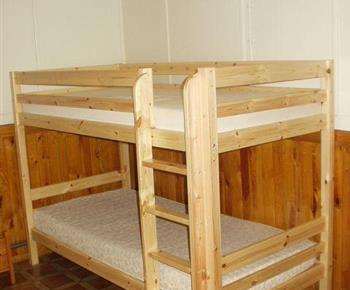 Ložnice s patrovou postelí