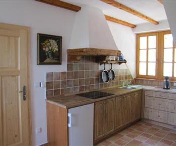 Vybavená kuchyňka je součástí každého apartmánu