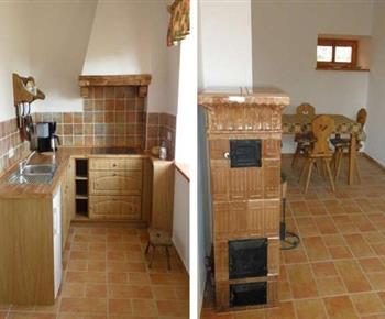 Čtyřlůžkový apartmán - kuchyňka s jídelnou