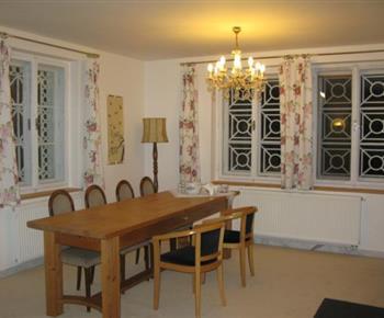 Apartmán A - jídelna součástí obývacího pokoje