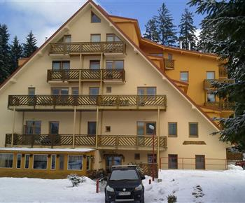Dům s apartmánem v zimním období