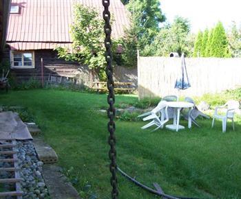 Venkovní posezení na zahradě u chalupy