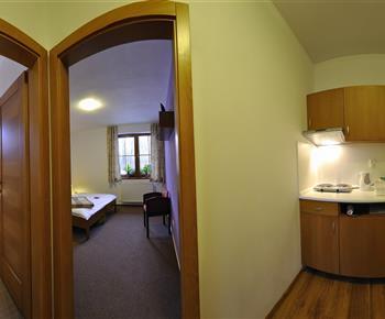 Apartmán s jednou spálňou a kuchyňou