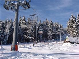 Skiareál Černá Hora v bezprostřední blízkosti penzionu