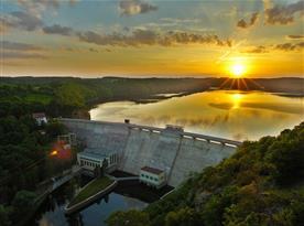 Pohled na přehradu od Claryho kříže