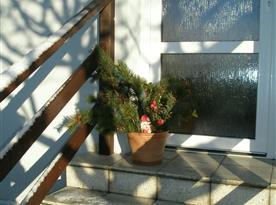 Vánoční dekorace venku