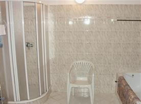 Koupelna se sprchovým koutem a vanou