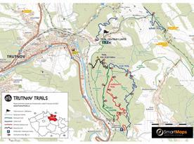 Mapa trailových tras u Trutnova