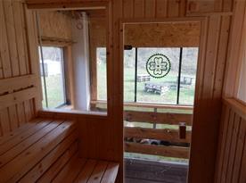 Pohled ze sauny