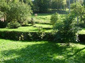 Pohled na zahradu u objektu