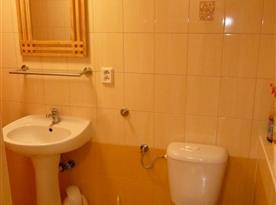 druhá koupelna s WC a sprchovým koutem