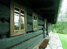 veranda v létě