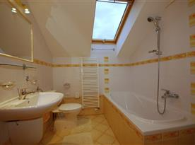 Objekt I.: apartmán pro 4-6 osob - koupelna