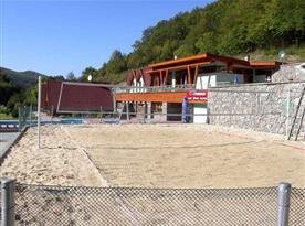 Beach volejbalové hřiště v areálu