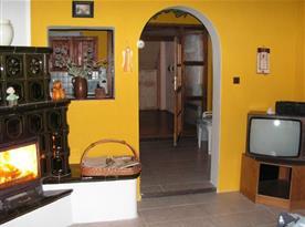 Pohled z obývacího pokoje